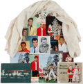 Music Memorabilia:Memorabilia, Elvis Gifted Scarf and Fan Club Post Cards Group (1966-75).... (Total: 18 Items)