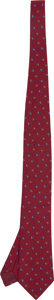 Luxury Accessories:Accessories, Hermes 9cm Dark Red with Blue Print Silk Tie. ...