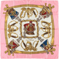 "Luxury Accessories:Accessories, Hermes Pink, Cream, & Gold ""Grand Uniforme"" by Joachim MetzSilk Scarf. ..."