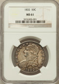 Bust Half Dollars, 1832 50C Small Letters MS61 NGC. O-102, R.1....