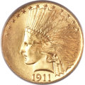 Indian Eagles, 1911 $10 MS66 PCGS. CAC....