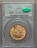 Indian Eagles, 1926 $10 MS62 PCGS. CAC. PCGS Population (12040/14295). NGC Census:(13749/18312). Mintage: 1,014,000. Numismedia Wsl. Pric...