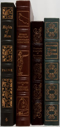 Books:Americana & American History, [Government]. Group of Four. Easton Press. Slight scuffing to gilt.Previous owner's bookplate in The Autobiography of Ben...(Total: 4 Items)