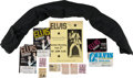 Music Memorabilia:Memorabilia, Elvis Presley Gifted Scarf and Concert Memorabilia (1970-76).... (Total: 12 Items)