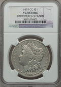 Morgan Dollars: , 1893-CC $1 -- Improperly Cleaned -- NGC Details. VG. NGC Census:(116/3005). PCGS Population (162/5496). Mintage: 677,000. ...
