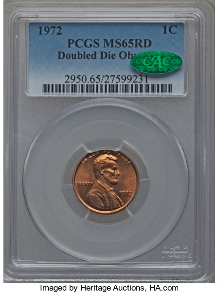 1972 Doubled Die Obv 1C MS Lincoln Cents, Memorial Reverse | NGC