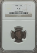 Barber Dimes: , 1896-S 10C Good 6 NGC. NGC Census: (6/96). PCGS Population(15/174). Mintage: 575,056. Numismedia Wsl. Price for problem fr...