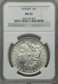 Morgan Dollars: , 1878 8TF $1 MS62 NGC. NGC Census: (1632/5082). PCGS Population(2054/6800). Mintage: 699,300. Numismedia Wsl. Price for pro...
