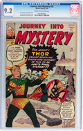 Silver Age (1956-1969):Superhero, Journey Into Mystery #92 (Marvel, 1963) CGC NM- 9.2 Cream to off-white pages....