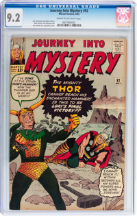Journey Into Mystery #92 (Marvel, 1963) CGC NM- 9.2 Cream to off-white pages