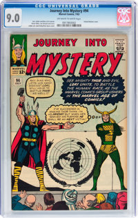 Journey Into Mystery #94 (Marvel, 1963) CGC VF/NM 9.0 Off-white to white pages