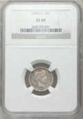 Barber Dimes: , 1900-O 10C XF40 NGC. NGC Census: (8/60). PCGS Population (11/86).Mintage: 2,010,000. Numismedia Wsl. Price for problem fre...
