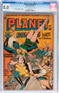 Golden Age (1938-1955):Science Fiction, Planet Comics #32 (Fiction House, 1944) CGC VF 8.0 Cream tooff-white pages....