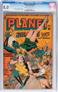 Planet Comics #32 (Fiction House, 1944) CGC VF 8.0 Cream to off-white pages