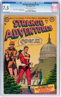 Golden Age (1938-1955):Science Fiction, Strange Adventures #38 (DC, 1953) CGC VF- 7.5 Cream to off-whitepages....