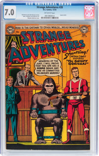 Strange Adventures #39 (DC, 1953) CGC FN/VF 7.0 Off-white pages