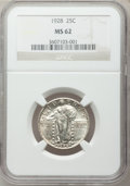Standing Liberty Quarters: , 1928 25C MS62 NGC. NGC Census: (69/377). PCGS Population (85/486).Mintage: 6,336,000. Numismedia Wsl. Price for problem fr...