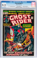 Bronze Age (1970-1979):Superhero, Marvel Spotlight #5 Ghost Rider (Marvel, 1972) CGC NM- 9.2Off-white to white pages....
