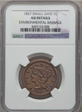 Large Cents: , 1857 1C Small Date -- Environmental Damage -- NGC Details. AU. PCGSPopulation (26/96). ...