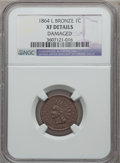 Indian Cents: , 1864 1C L On Ribbon -- Damaged -- NGC Details. XF. NGC Census:(63/625). PCGS Population (117/651). Mintage: 39,233,712. Nu...