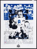 """Football Collectibles:Others, 1993 Troy Aikman Signed """"Super Bowl XXVII"""" Lithographs Lot of 5...."""