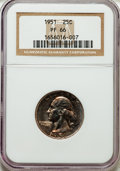 Proof Washington Quarters: , 1951 25C PR66 NGC. NGC Census: (336/473). PCGS Population(589/269). Mintage: 57,500. Numismedia Wsl. Price for problemfre...