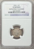 Barber Dimes: , 1894 10C -- Improperly Cleaned -- NGC Details. VF. NGC Census:(4/142). PCGS Population (7/246). Mintage: 1,330,972. Numism...