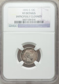 Barber Dimes: , 1896-S 10C -- Improperly Cleaned -- NGC Details. VF. NGC Census:(1/87). PCGS Population (6/141). Mintage: 575,056. Numisme...