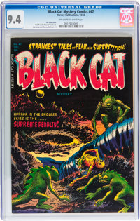 Black Cat Mystery #47 (Harvey, 1953) CGC NM 9.4 Off-white to white pages