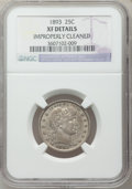Barber Quarters: , 1893 25C -- Improperly Cleaned -- NGC Details. XF. NGC Census:(5/263). PCGS Population (8/377). Mintage: 5,444,815. Numism...
