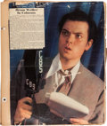 Movie/TV Memorabilia:Documents, An Orson Welles Personally-Owned Scrapbook, 1939....