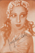 Movie/TV Memorabilia:Autographs and Signed Items, A Josephine Baker Signed Image, Circa 1930s....