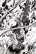 Original Comic Art:Covers, Jim Lee Deathblow #0 Cover Original Art (Image, 1996)....