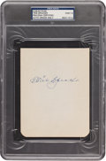 Autographs:Others, 1950's Tris Speaker Signed Album Page, PSA/DNA Mint 9....