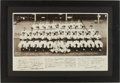 Autographs:Photos, 1952 New York Yankees Oversized Photograph from Ed Lopat Estate....