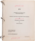 "Movie/TV Memorabilia:Documents, A Prop Master-Owned Script from ""JFK.""..."