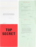 """Movie/TV Memorabilia:Props, A Group of Prop 'White House' Memos from """"JFK.""""..."""