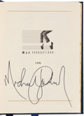 Music Memorabilia:Autographs and Signed Items, Michael Jackson Signed 1996 Yearly Planner (MJJ Productions, 1996)....