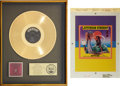 Music Memorabilia:Awards, Jefferson Starship Red Octopus Gold Record Award andCashbox Ad Art for Spitfire (1975-76)... (Total: 2Items)