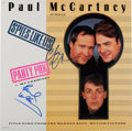 "Music Memorabilia:Autographs and Signed Items, Paul McCartney and Chevy Chase Signed Spies Like Us PartyMix 12"" Single (Warner V-15212, 1985)...."