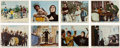 Music Memorabilia:Photos, Beatles Help! British Front of House Lobby Card Set of Eight(United Artists, 1965).... (Total: 8 Items)