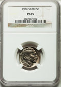 Proof Buffalo Nickels, 1936 5C Type One--Satin Finish PR65 NGC....