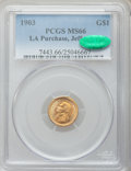 Commemorative Gold, 1903 G$1 Louisiana Purchase/Jefferson MS66 PCGS. CAC....