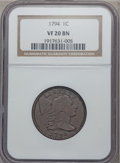 Large Cents, 1794 1C Head of 1795 VF20 NGC. S-72, B-65, R.2....