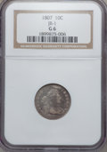 Early Dimes, 1807 10C JR-1, R.2 Good 6 NGC. NGC Census: (3/220). PCGS Population(5/317). Mintage: 165,000. Numismedia Wsl. Price for pr...