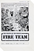 """Original Comic Art:Complete Story, Don Lomax and Rose Lomax Fire Team #4 Complete 24-Page Story""""The Pirates of the Mekong"""" Original Art (Malibu, 199..."""