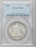 Seated Half Dollars, 1884 50C MS63 PCGS....