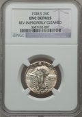 Standing Liberty Quarters: , 1928-S 25C -- Rev Improperly Cleaned -- NGC Details. UNC. NGCCensus: (0/788). PCGS Population (4/1260). Mintage: 2,644,000...