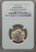 Standing Liberty Quarters: , 1925 25C -- Improperly Cleaned -- NGC Details. UNC. NGC Census:(0/453). PCGS Population (12/697). Mintage: 12,280,000. Num...