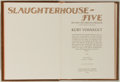 Books, Kurt Vonnegut. SIGNED/LIMITED. Slaughterhouse-five. FranklinLibrary. 1978. Publisher's binding. Signed by Aut...
